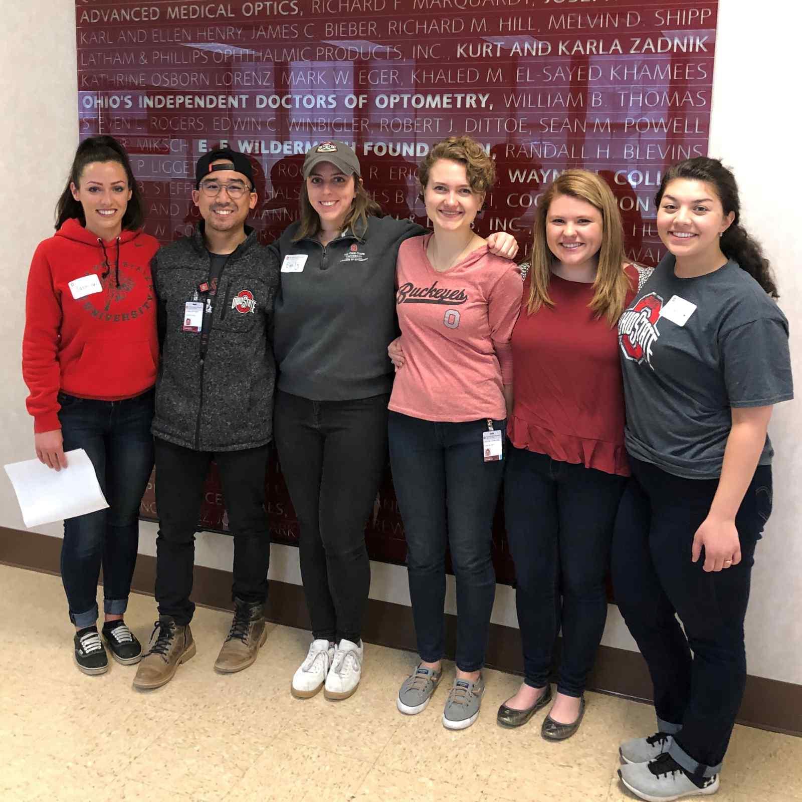 Ohio State optometry student ambassadors